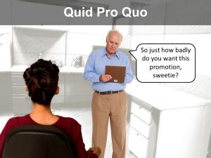 quid quo pro sexual harassment in Spokane
